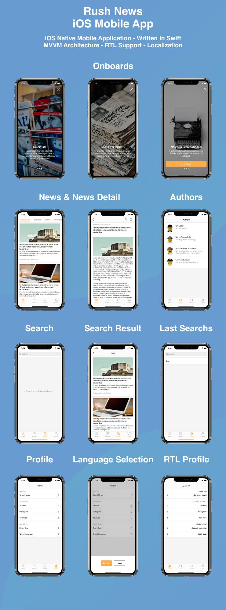 News Mobile iOS Native Application | Swift + MVVM - 2